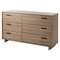Fynn Double Dresser - 6 Drawers, Rustic Oak - SS-9067027