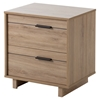 Fynn Nightstand - 2 Drawers, Rustic Oak