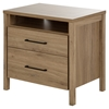 Gravity Nightstand - 2 Drawers, Rustic Oak