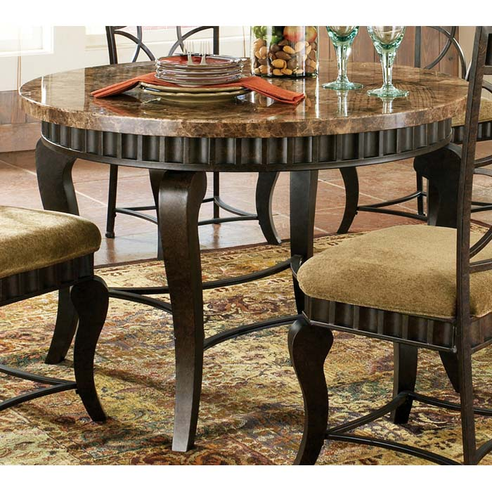 Hamlyn Earth Tone Marble Top Dinette Table