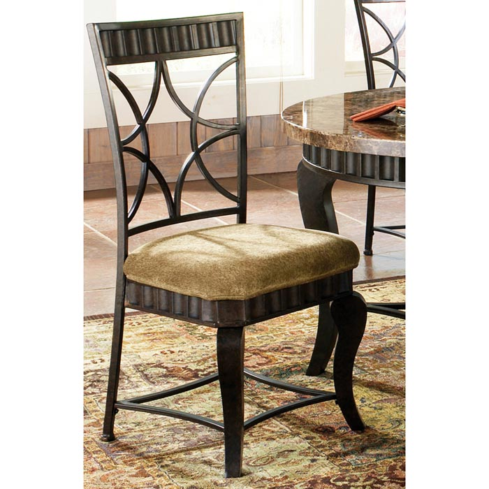 Hamlyn Pewter Finished Side Chair - SSC-HL500S