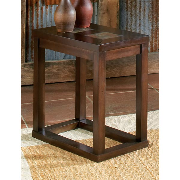 Alberto Chairside End Table with Ceramic Tile Inlays - SSC-AL100EC