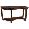London Wood Sofa Table with Glass Insert