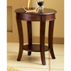 Troy Round Top End Table in Cherry