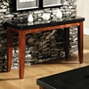 Granite Bello Sofa Table with Cherry Finished Legs