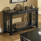 Cassidy Black Sofa Table with Curved Legs