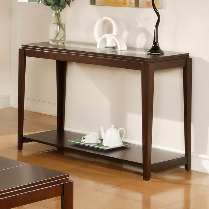 Ice Contemporary Sofa Table in Cherry - SSC-IE200S