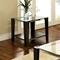 Newman Glass Top End Table - SSC-NW100ET-NW100EB