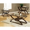 Dylan Glass and Wood Top Sofa Table - SSC-DY300S