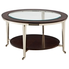 Norton Contemporary Cocktail Table with Casters