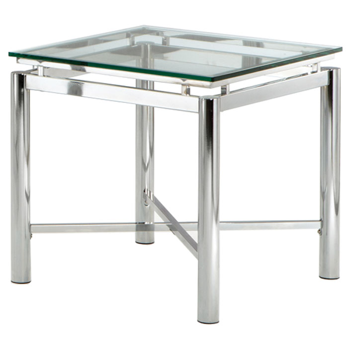 Nova End Table with Chrome Legs