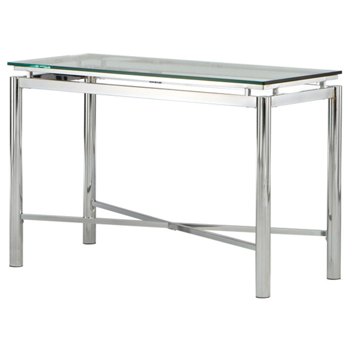 Nova Contemporary Sofa Table with Glass Top