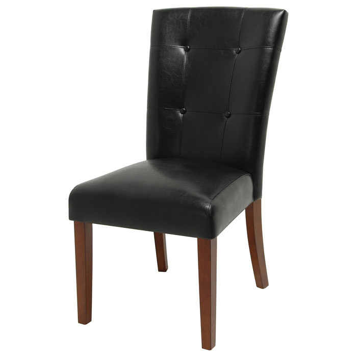 Granite Bello Tufted Black Parsons Chair