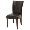 Montibello Tufted Parsons Chair in Chocolate Brown