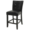 "Monarch 24"" Tufted Black Counter Chair"