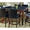 Granite Bello 9 Piece Counter Set with Black Button Tufted Chairs - SSC-MG-CNTR-9PC