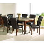 Montibello 7 Piece Dining Set with Chocolate Brown Chairs