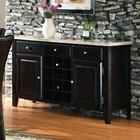 Monarch Black Finished Server with Marble Top