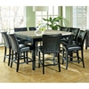 Monarch 9 Piece Contemporary Counter Set in Black Finish
