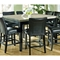 Monarch 9 Piece Contemporary Counter Set in Black Finish - SSC-MC-CNTR-9PC