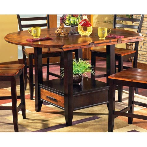 Abaco Drop Leaf Counter Table with Storage Base