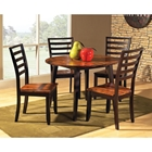 Abaco Round Dual Drop Leaf Dinette Table with Four Side Chairs