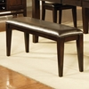 Victoria Chocolate Upholstered Seat Bench