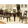 Victoria 6 Piece Wood Dining Set in Mango Finish