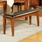 Mango Chocolate Upholstered Seat Bench - SSC-GO400BNK