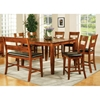 Mango 8 Piece Light Oak Counter Set with Bench