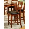 "Mango 24"" Counter Chair - Light Oak, Chocolate Seat"