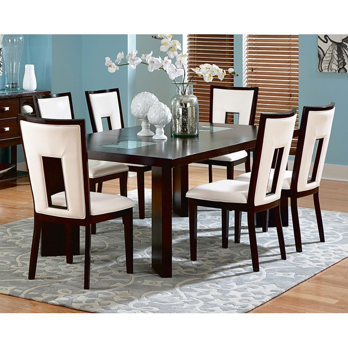 Delano 7 Piece Contemporary Dining Set in Espresso