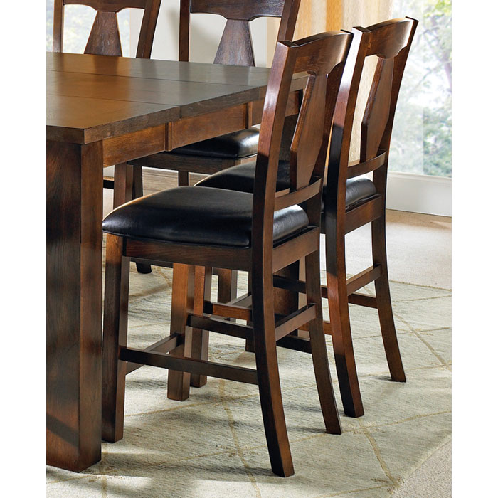 Lakewood Dark Brown Seat Counter Chair