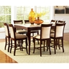 Marseille 9 Piece Counter Set with Marble Top Table