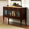 Marseille Marble Top Sideboard with Glass Doors