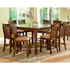 Montreal 9 Piece Counter Set with Wood Table