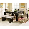 Movado 6 Piece Dining Set with Cushioned Bench