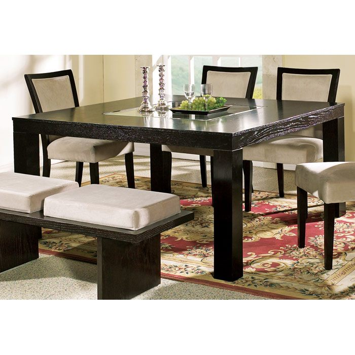 Movado Contemporary Dining Table with Glass Insert - SSC-MV200T