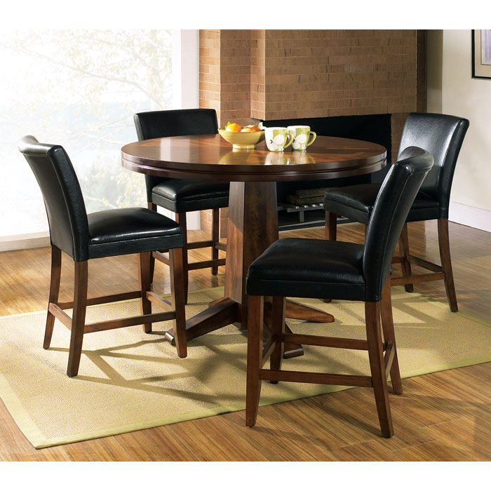 Serena 5 Piece Counter Set with Parsons Style Chairs