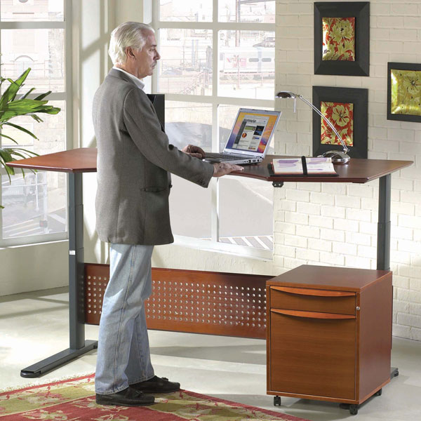 Large Sit Stand Hydraulic Height Adjusting Desk - UNIQ-7190105-XX