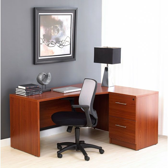 Pro X Right Crescent L-Shaped Desk with File Cabinet - UNIQ-PRO-X-COMBO-15
