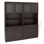 Pro X Dual Bookcases with Glass Doors
