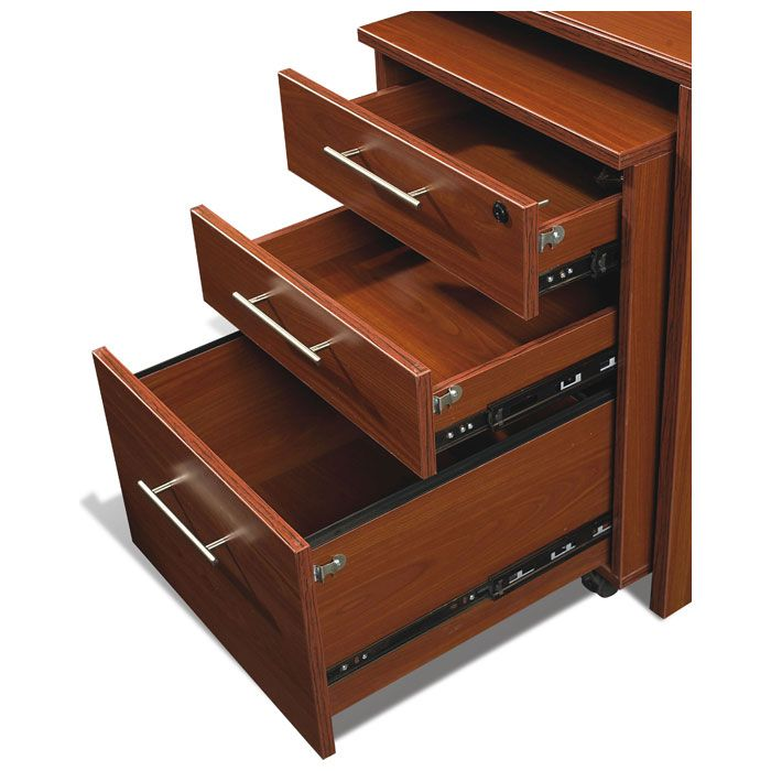 Pro X Executive Desk with Return and Mobile Pedestal - uniq-PRO-X-COMBO-25