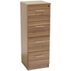 Pro X 4 Drawer High Filing Cabinet - Walnut