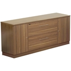 Pro X Locking Credenza - Walnut