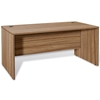 Pro X 71'' Executive Desk - Modesty Panel, Walnut