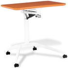 Mobile Laptop Table - Adjustable Height, Orange