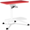 Mobile Laptop Table - Adjustable Height, Red