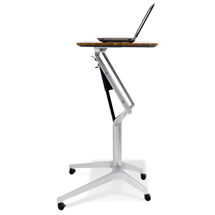 Adjustable Height Laptop Stand - Walnut - UNIQ-X201-WAL
