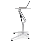 Adjustable Height Laptop Stand - White